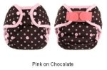 coverall pink on chocolate